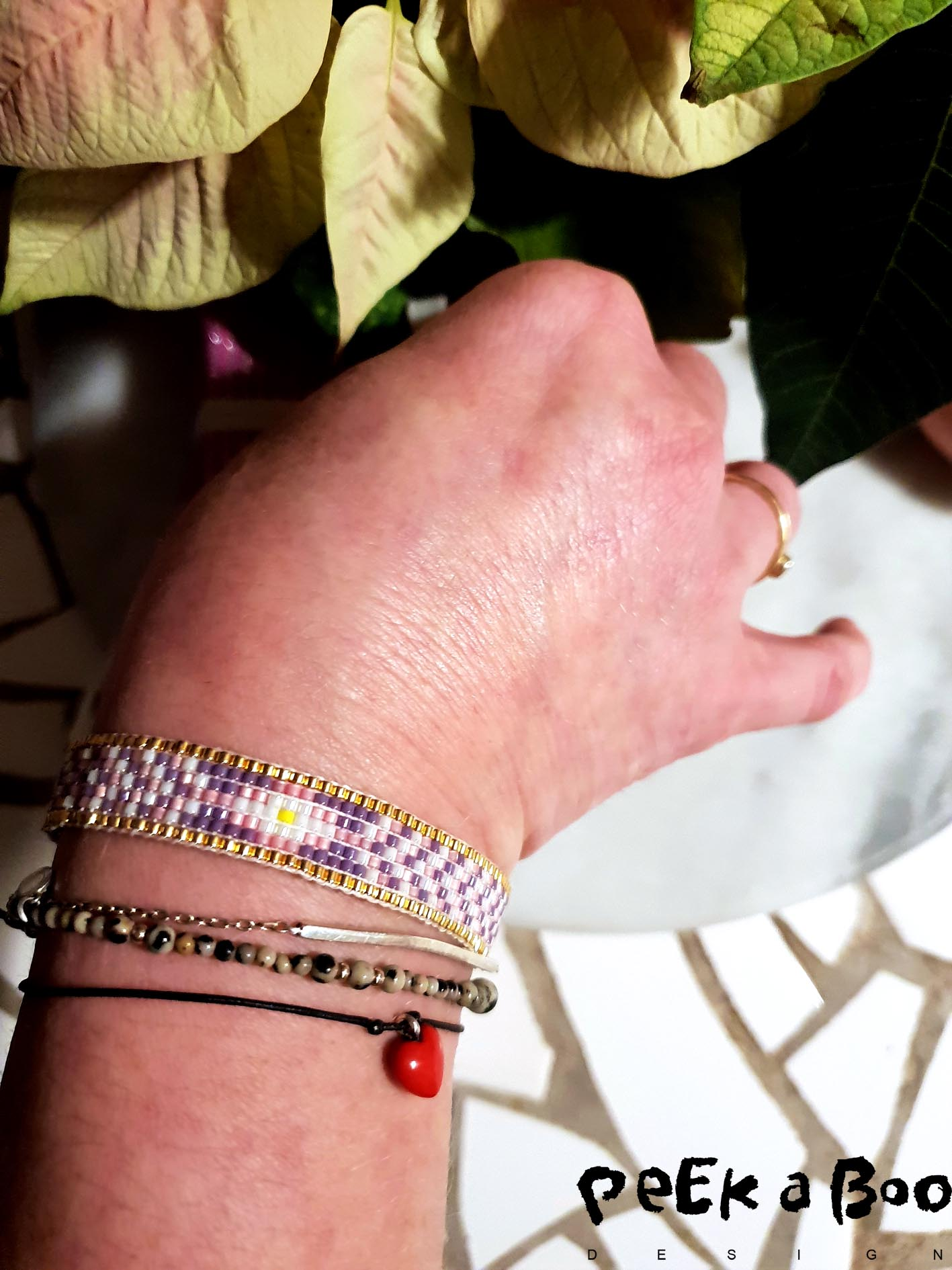 My armcandy. Homemade bracelet mixed with precious pieces from Maria Black and Bodil Binner.