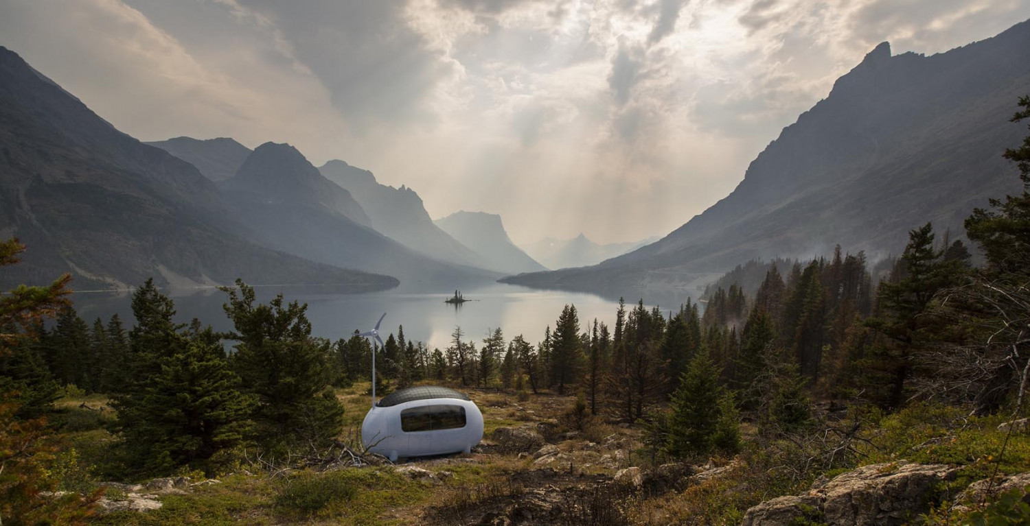 This is from the trendforecast, and the ecocapsule is a perfect example of the longing for escaping the urban busy lifestyle to go off-grid somewhere remote.