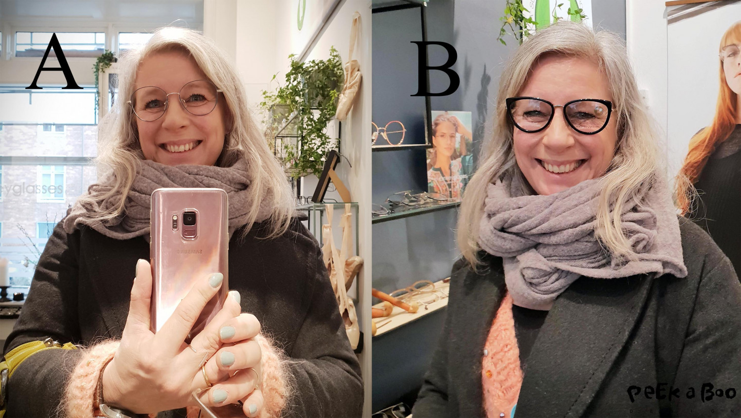 I tried the new collection, and fell in love with these two frames...which one do you prefere?