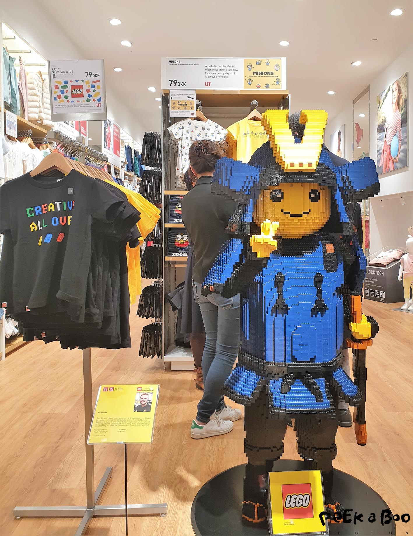 In the kidswear department they have made a co-lab with danish LEGO.