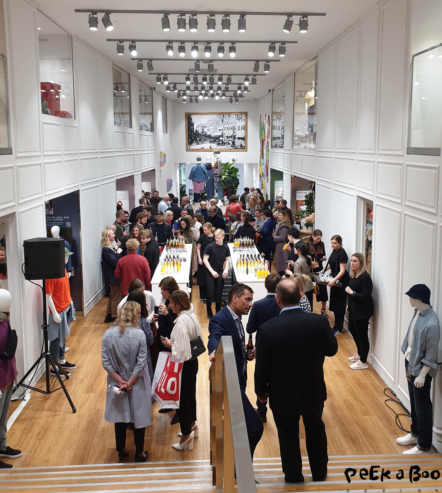 The Uniqlo store in Copenhagen was packed with guests and press at the pre-opening event last friday.
