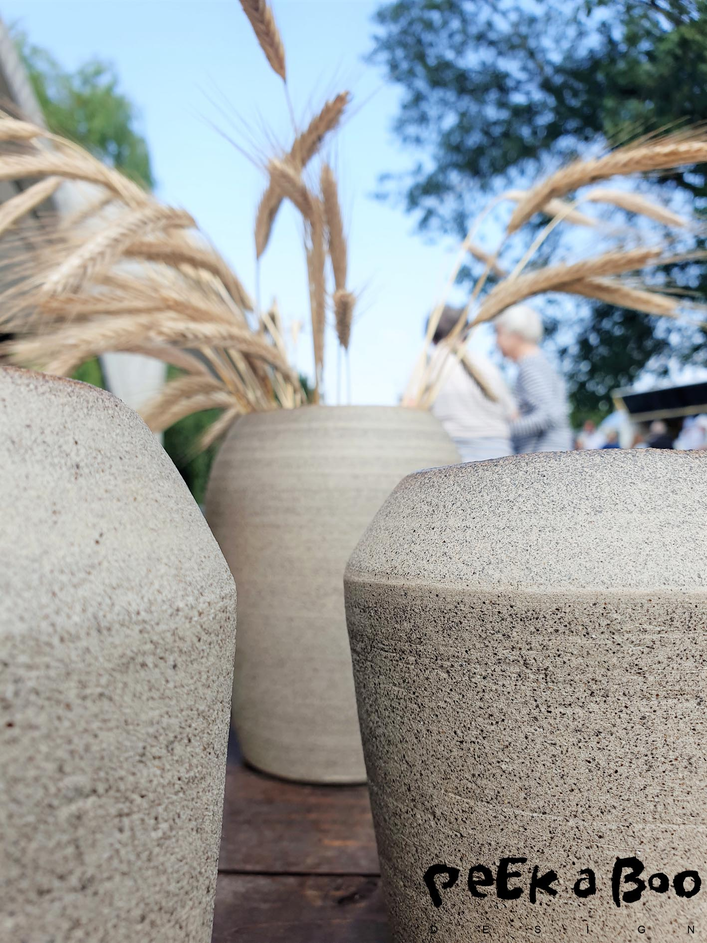 Vases in simple shapes and a rustic glaze from H Hedegaard.
