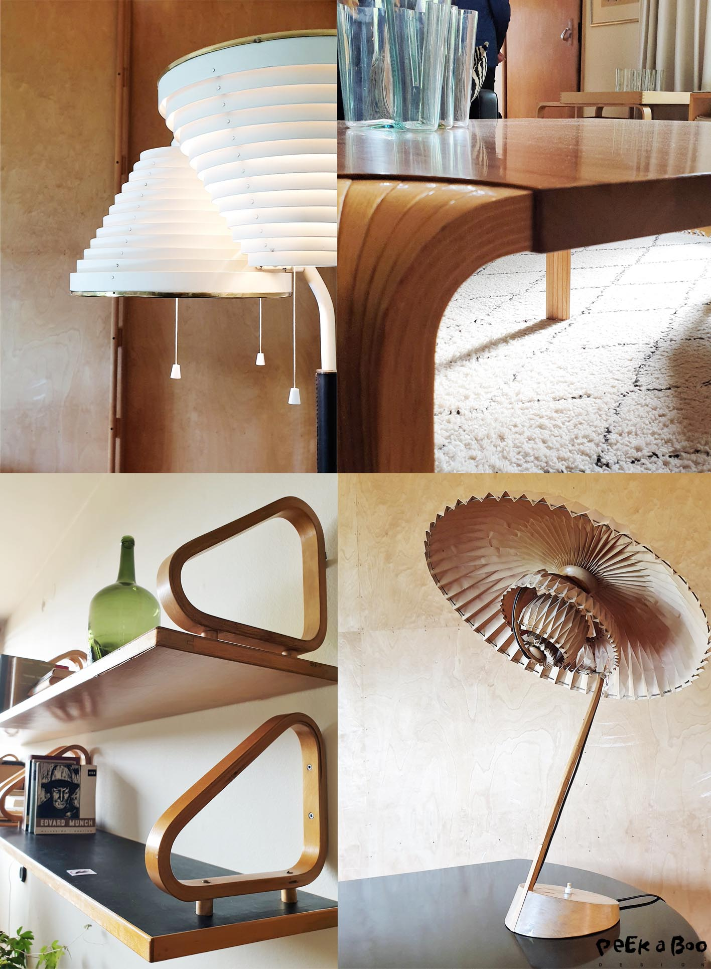 Details from the home of Alvar and Aino Aalto.