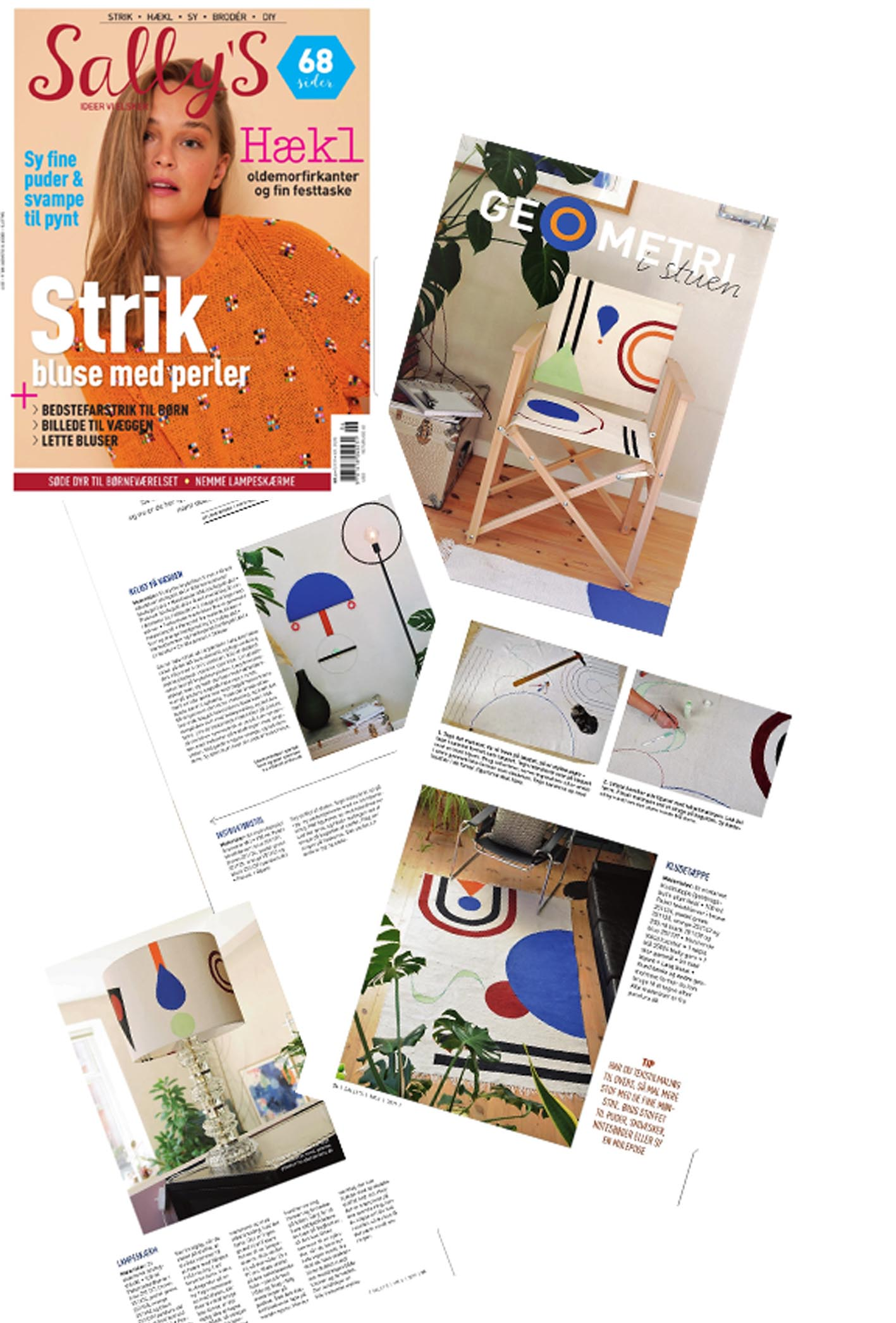 From the creative magazine Sally's that is available now in the shops.