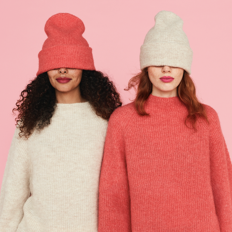 Some of the soft and cozy knitwear from the Pink Collection from Lindex.