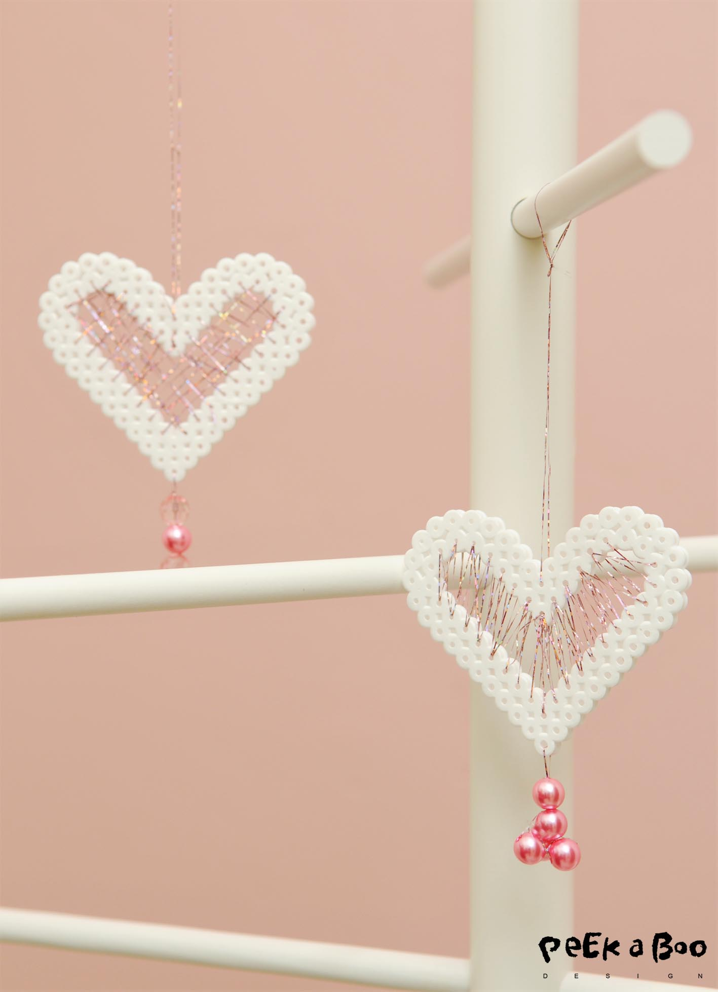 The two hearts looks quiet different because of the different stitching.