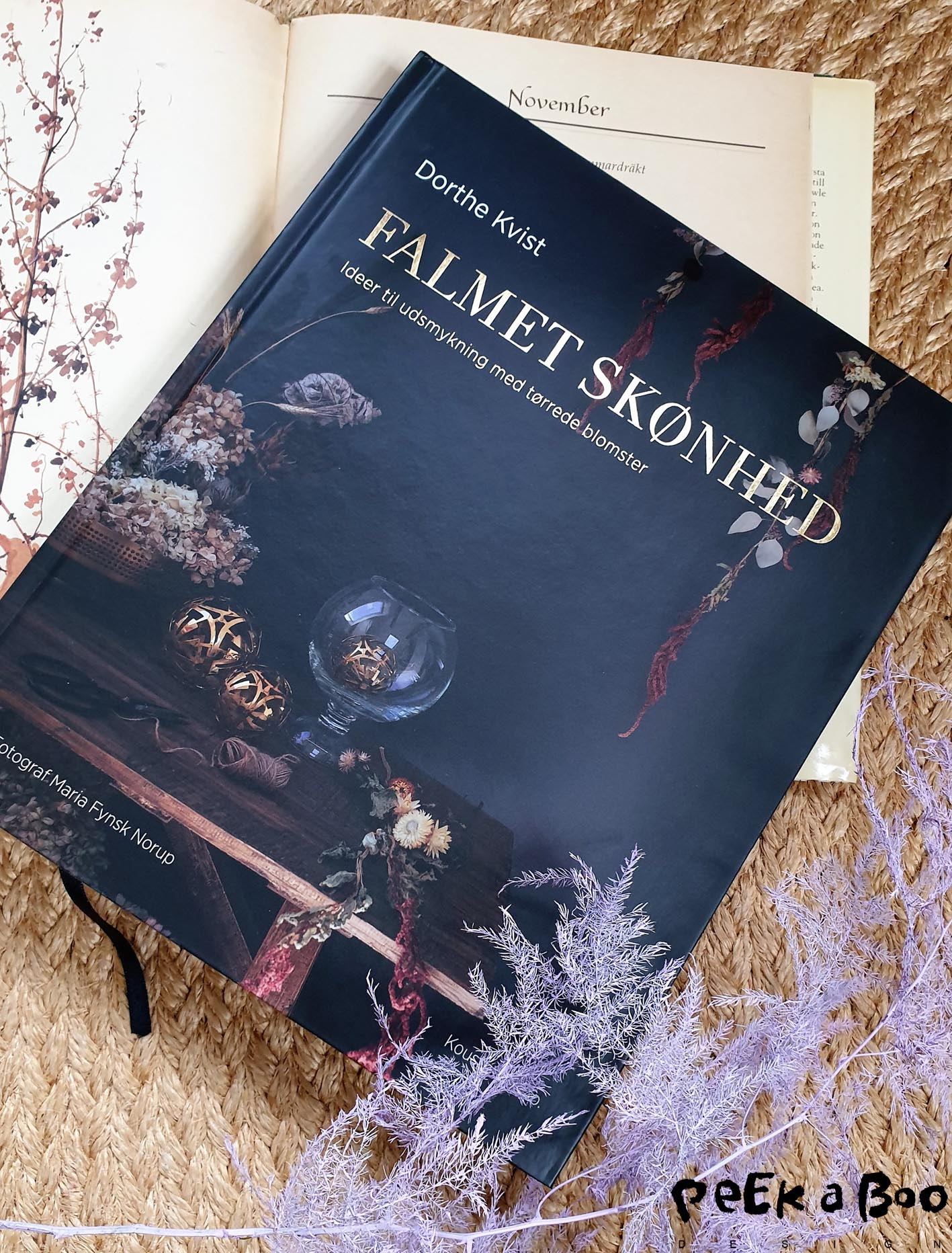 The book about the dried flowers and how to use them.
