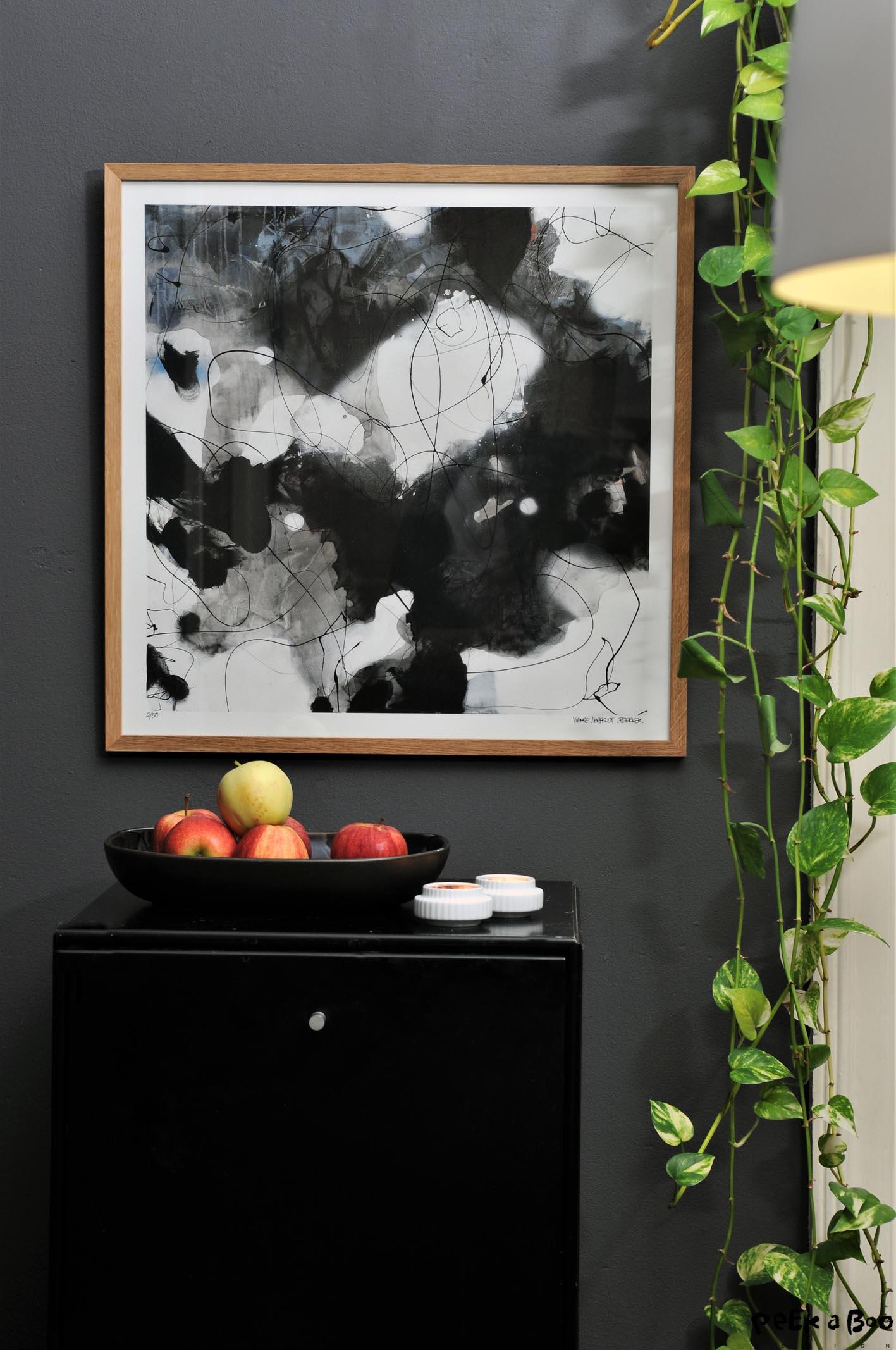 """This is how """"Winter Flowers"""" by Vibeke Lerfeldt Bjerker looks in my diningroom."""