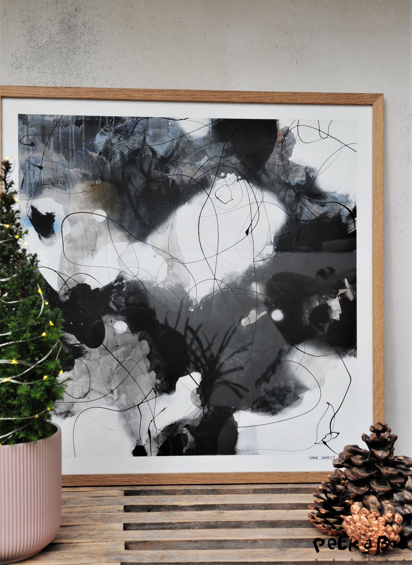 "The artwork from Lerfeldt Bjerker ""Winter Flowers"" that can be yours."