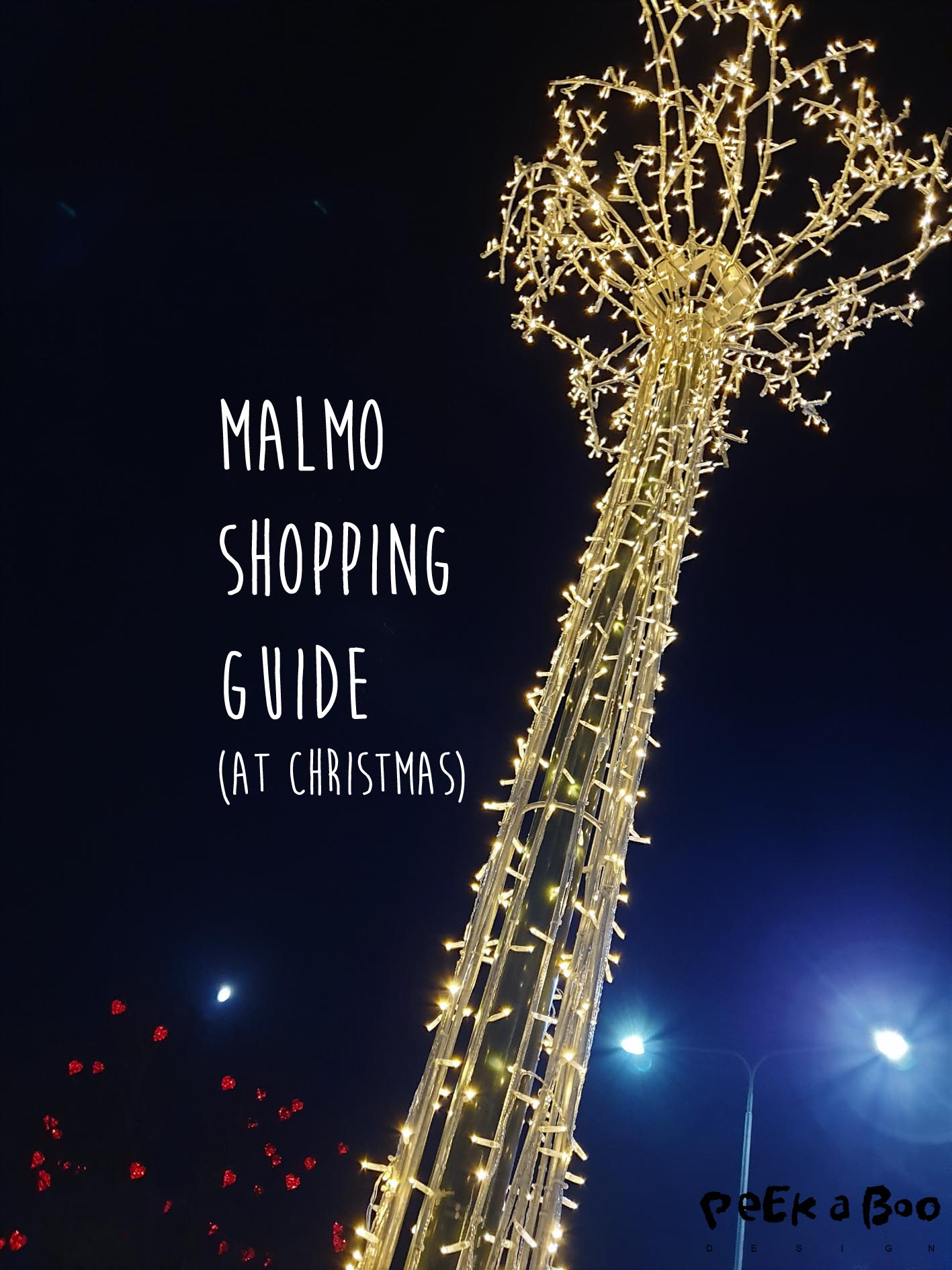Shopping in december in Malmo, Sweden gives you the opptunity to see all the stunning christmas lights all over town.