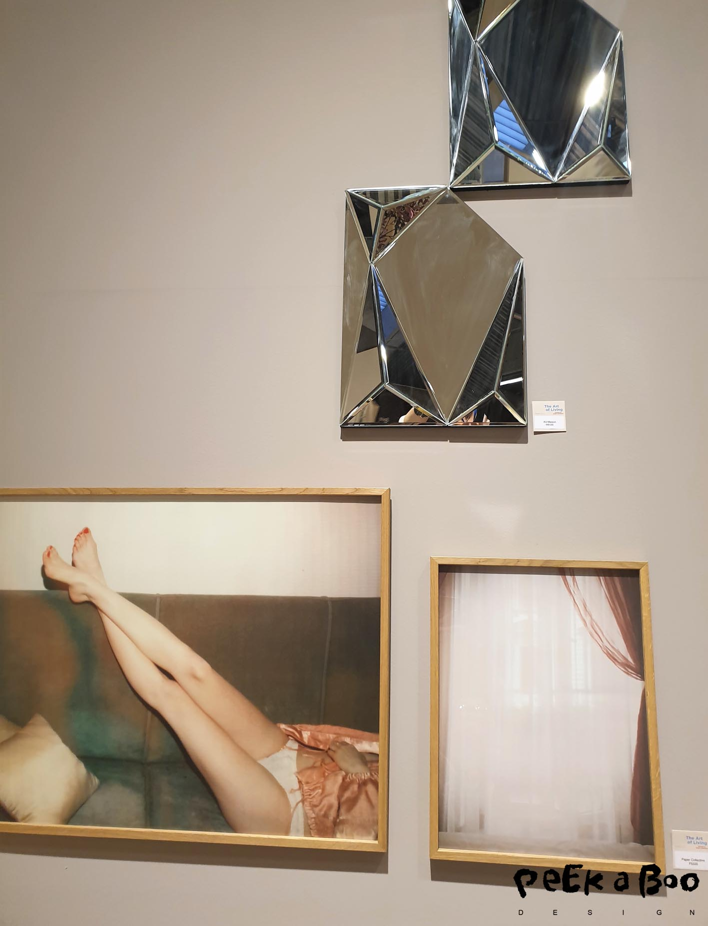 Feminine wallart can also be a deconstructed mirror as these from Au maison or the photoart from Paper Collective.