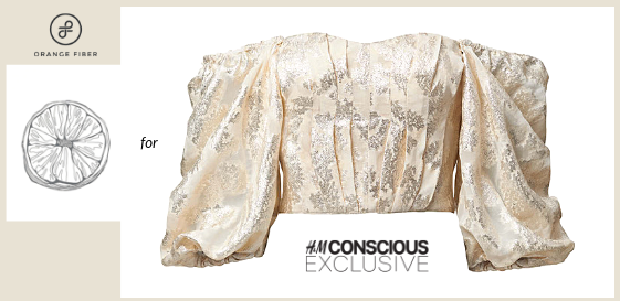 H&M conscious exclusive collection made of orange fiber. From april 2019,