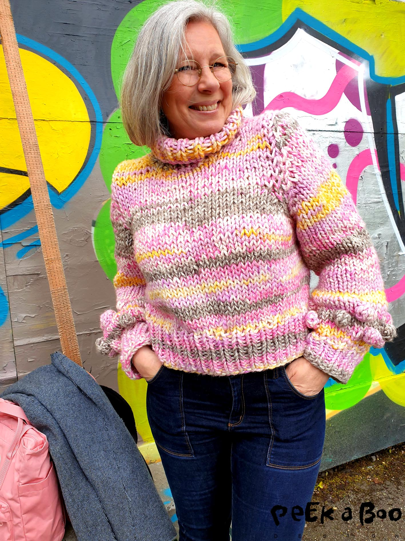 The finished bubble sweater