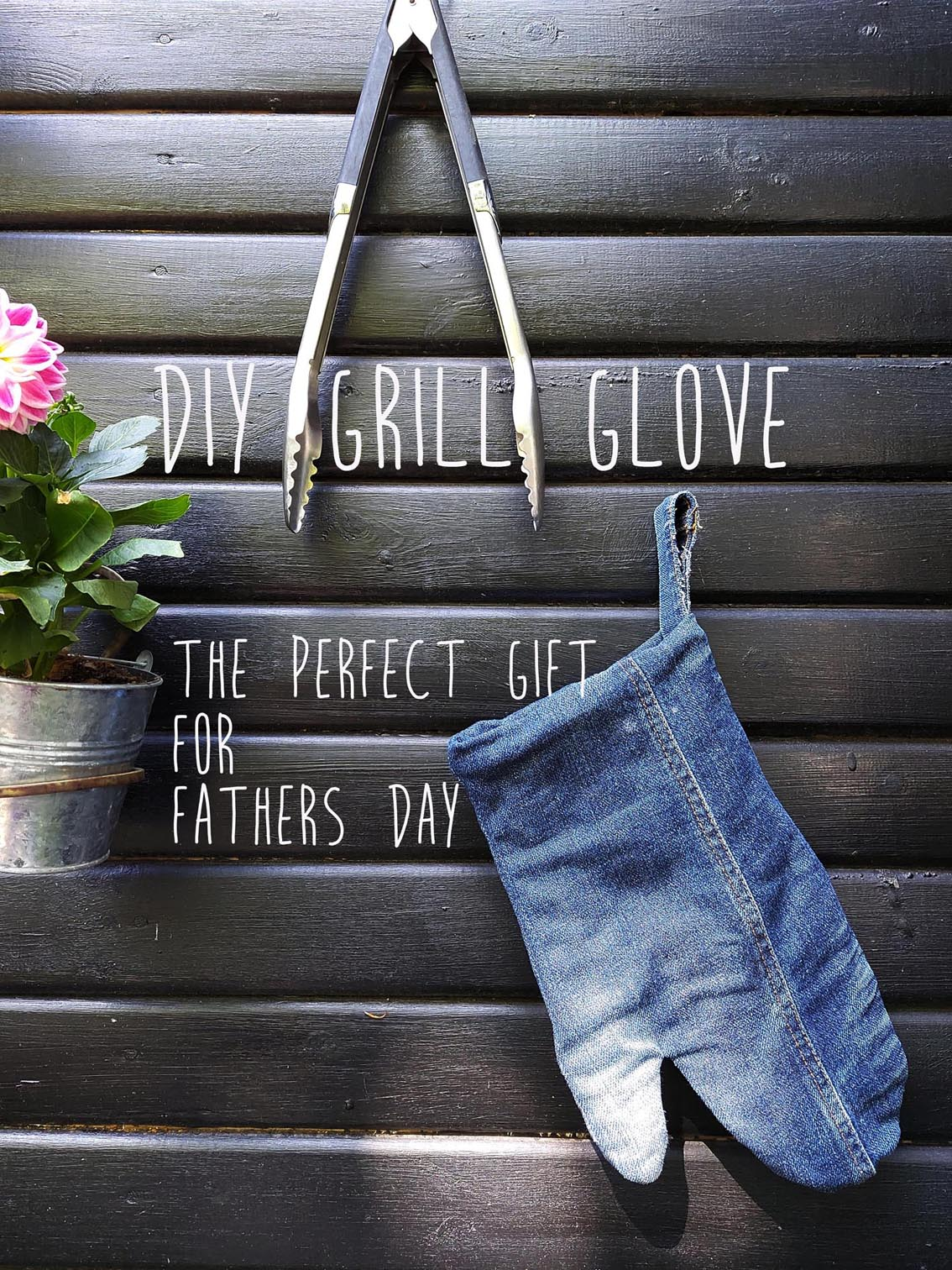 DIY grill glove you can make yourself of recycled materials.