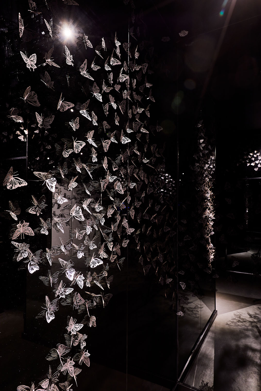 The butterfly room at restaurant the alchemist in Copenhagen.