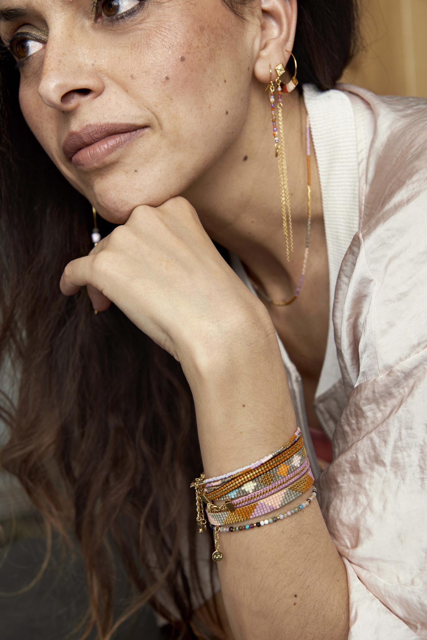 The beaded bracelets from Nuni Copenhagen.