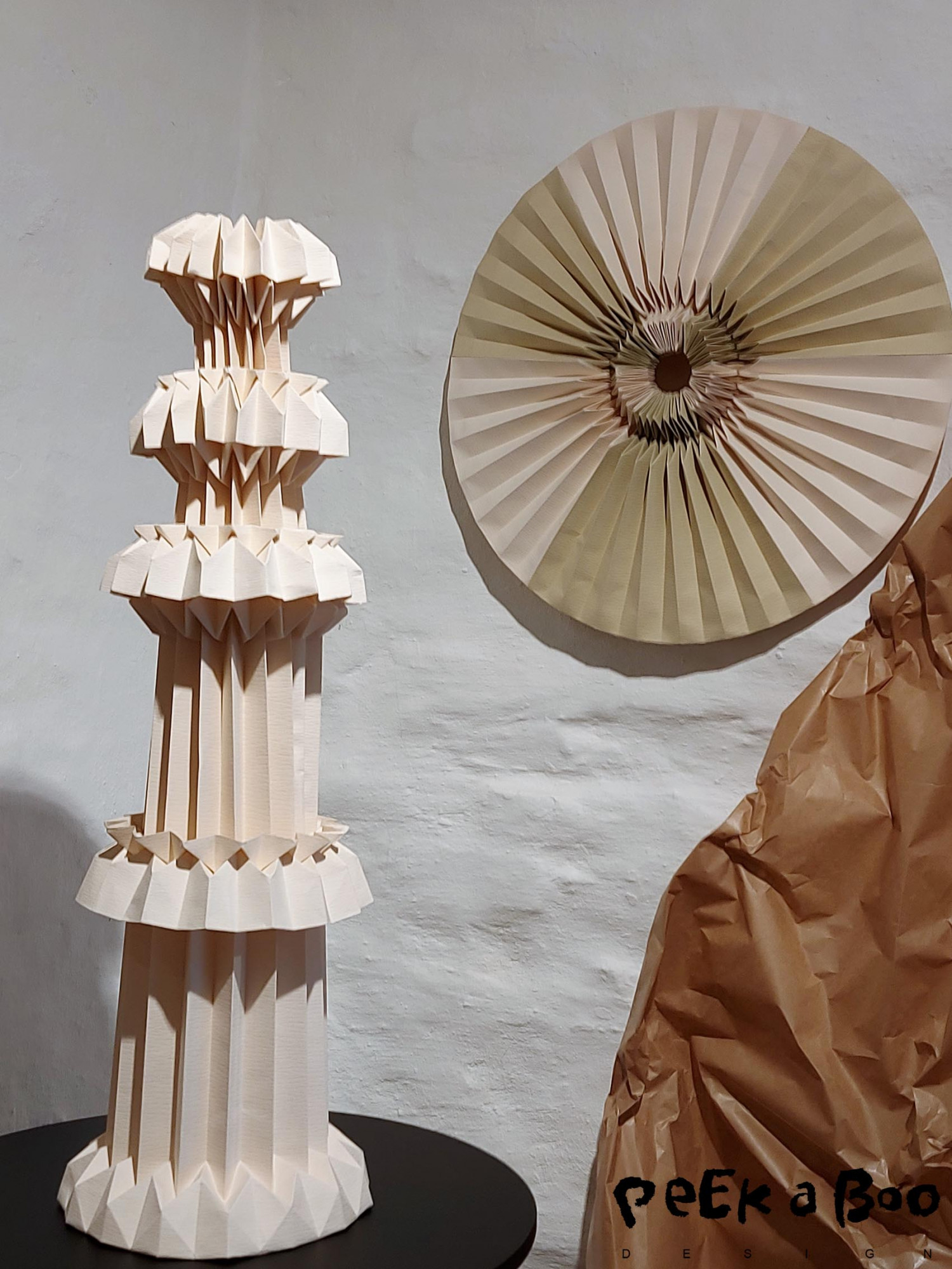 "Amanda Betz exhibited her paperart both at Kristina Dam Studio and at the ""material matters"" exhibition."