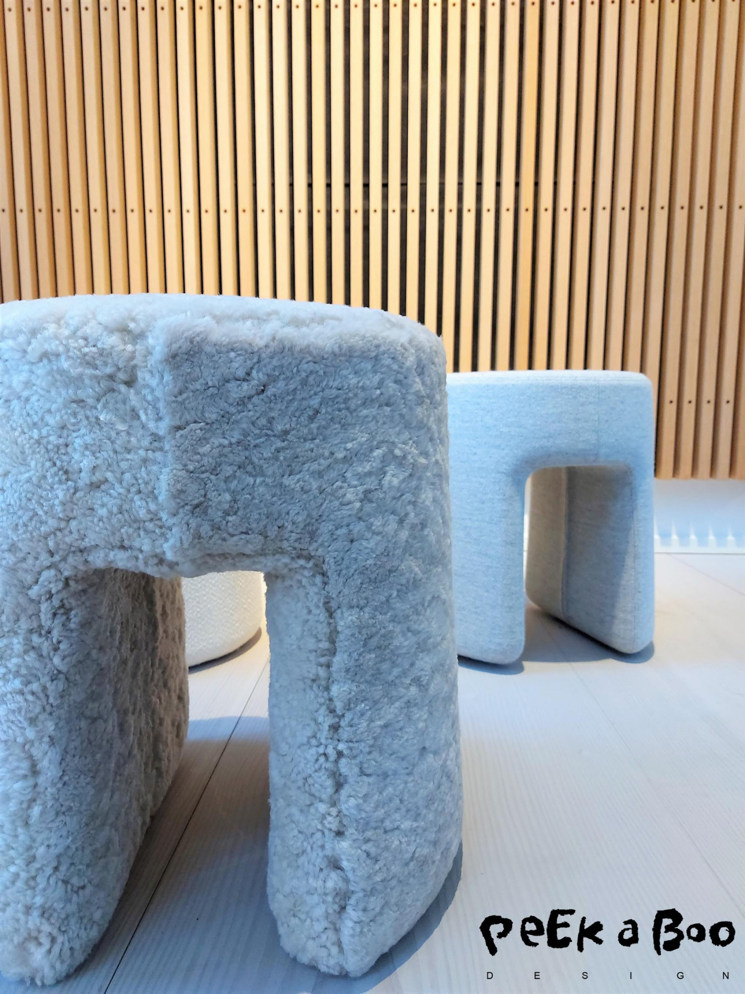 My favorite design in sheepskin is this stool called sequoia pouf designed by Space copenhagen for Fredericia Furniture.