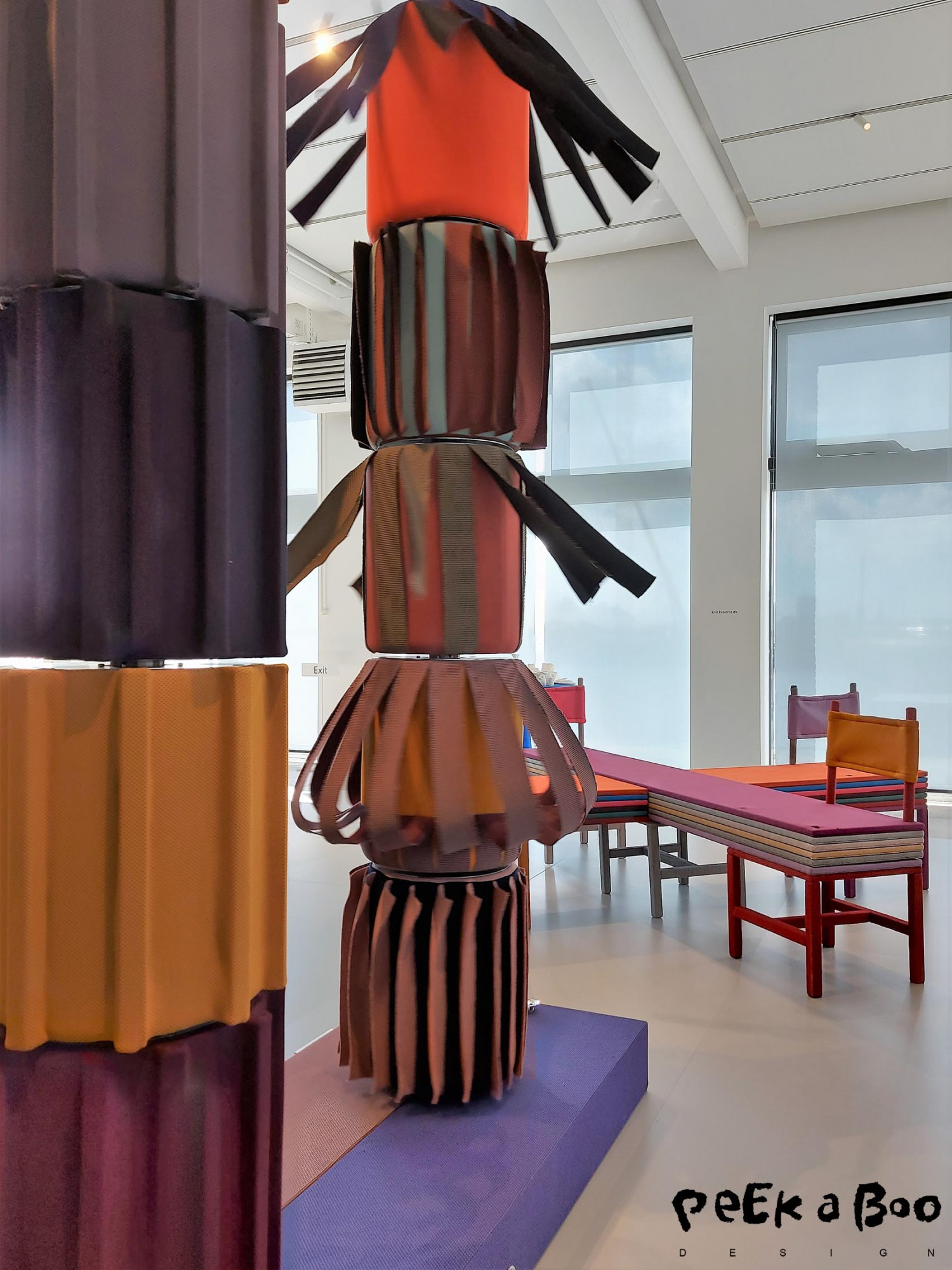 This turning pillar made the colour combinations countless. This was made by Objects of common Interest.