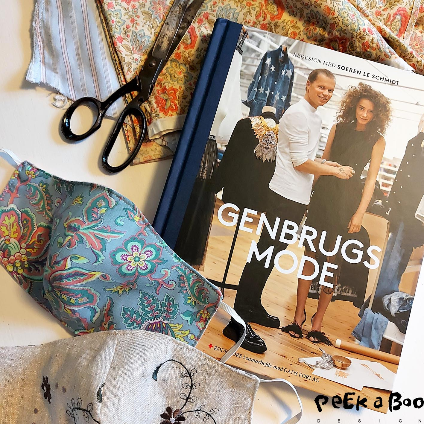 "The new book ""Genbrugs mode"" is made in cooperation with Røde Kors / red cross and the designer Soeren Le Schmidt. It gives you ideas on how to upcycle for a trendy wardrobe."