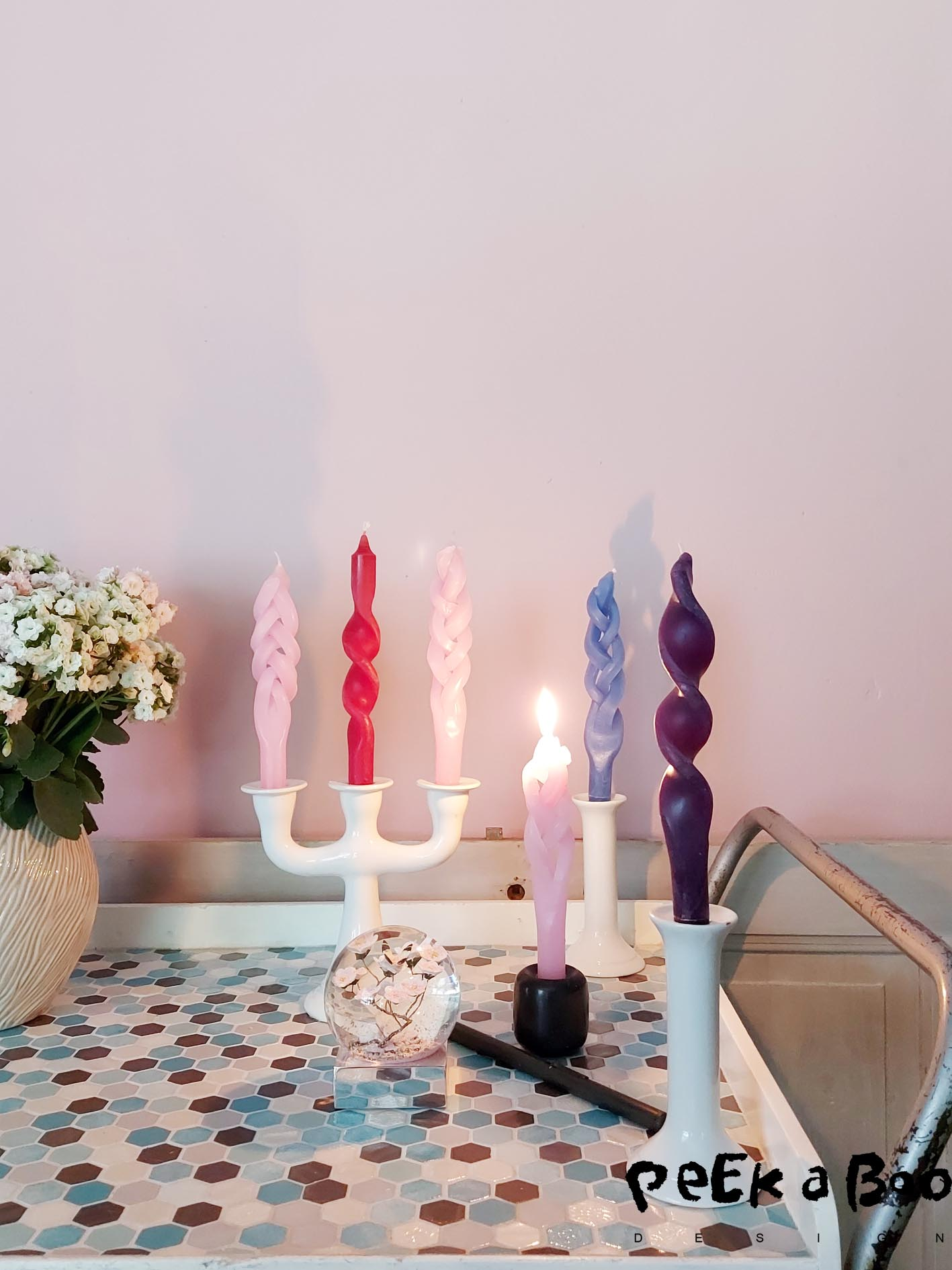 the easiest DIY ever. Upgrade your candles to look very exclusive and chic by twisting and braiding them. It only takes a few minuts.
