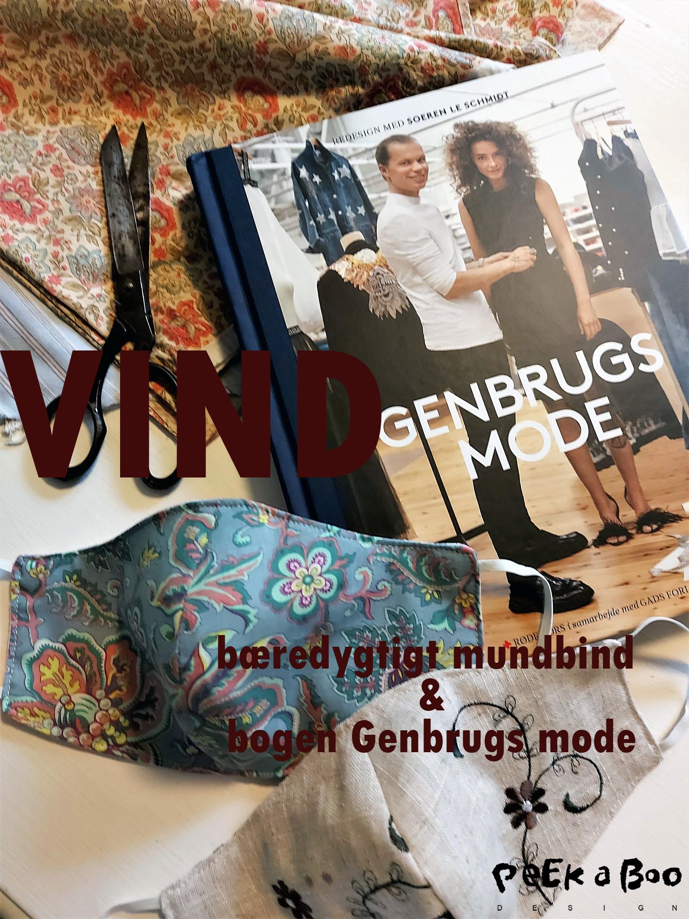"Giveaway....you can now win the book ""Genbrugs mode"" and one of my unique facemasks. from my brand @uniquemasks.dk"