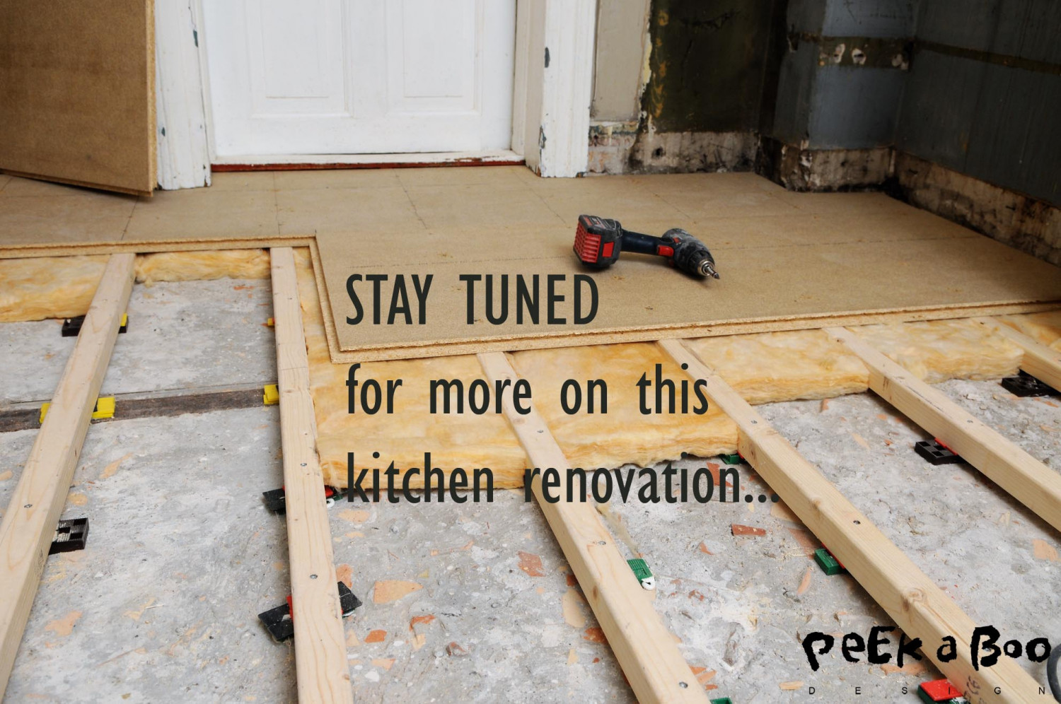 Stay tuned for the next part of this kitchen renovation...