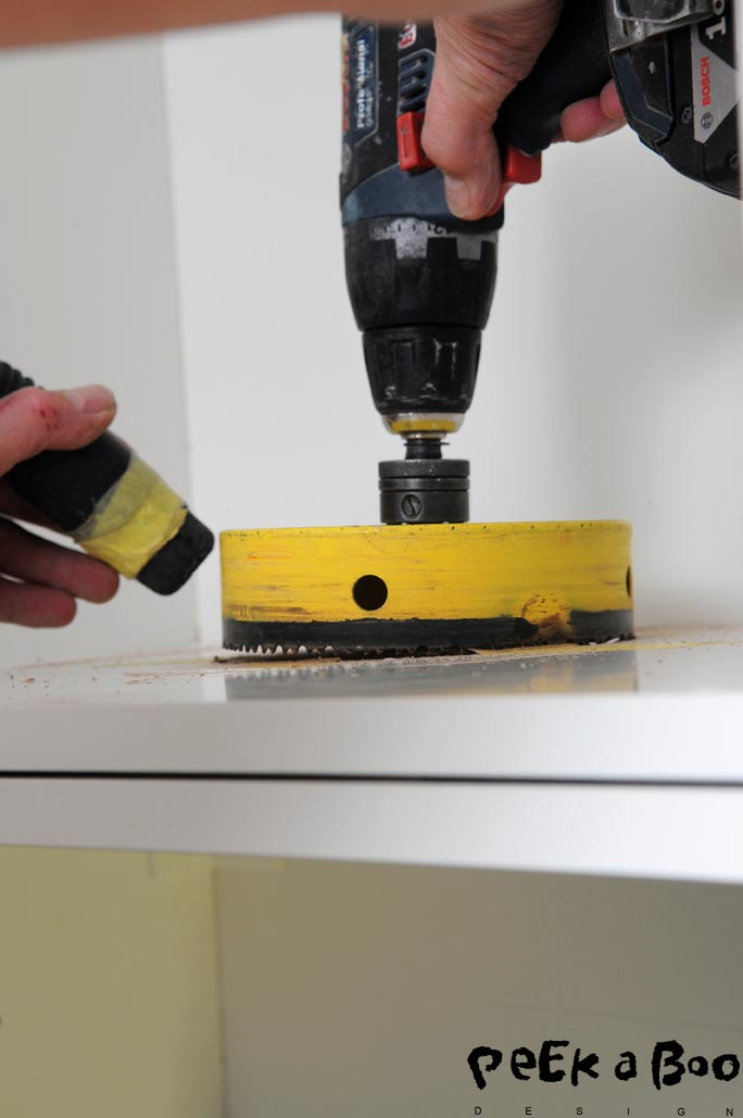 Mark up very precise so you are sure to meet the lower hole when drilling through.