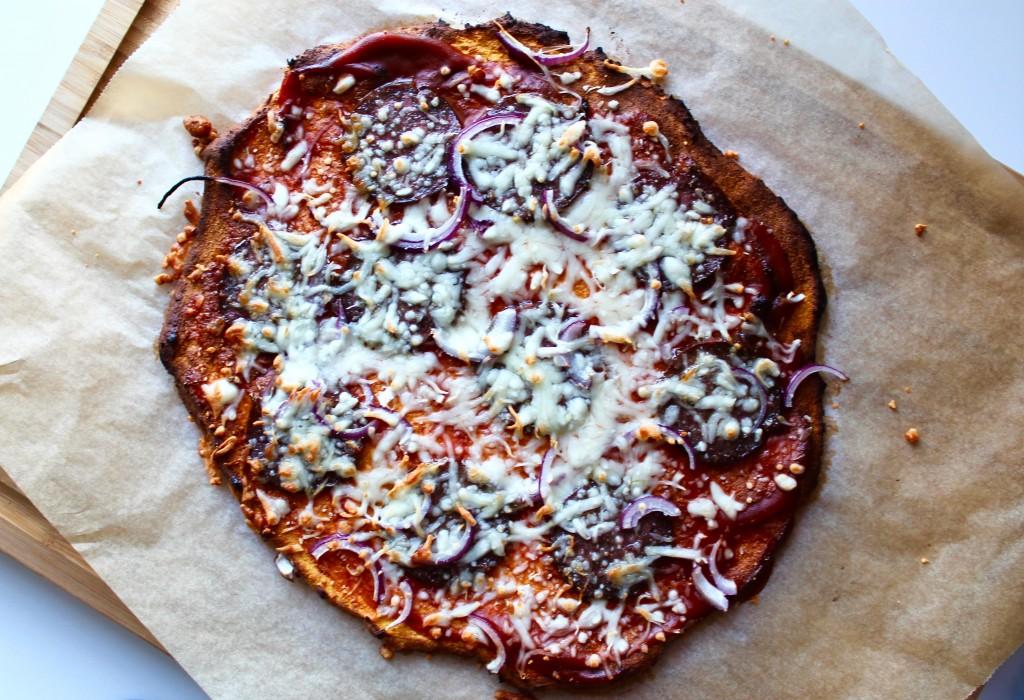 sød kartoffel pizza