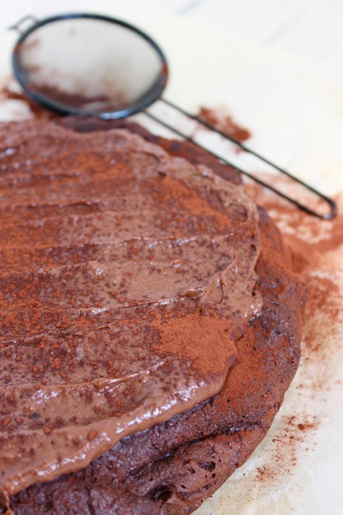 sund chokolade med banan-peanutbutter topping