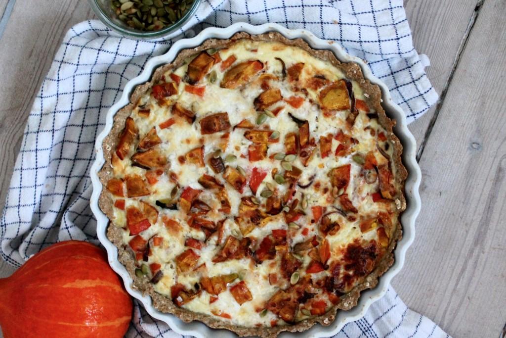 glutenfri græskartærte med parmasan