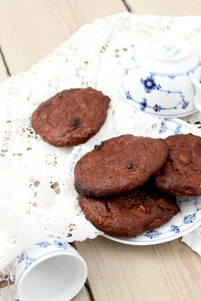 Sunde chokolade cookies