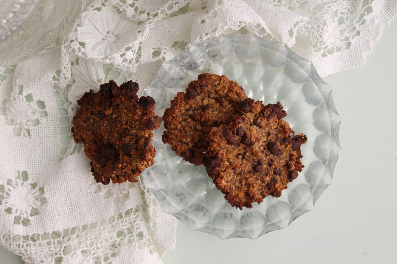 Sunde cookies med banan og havregryn