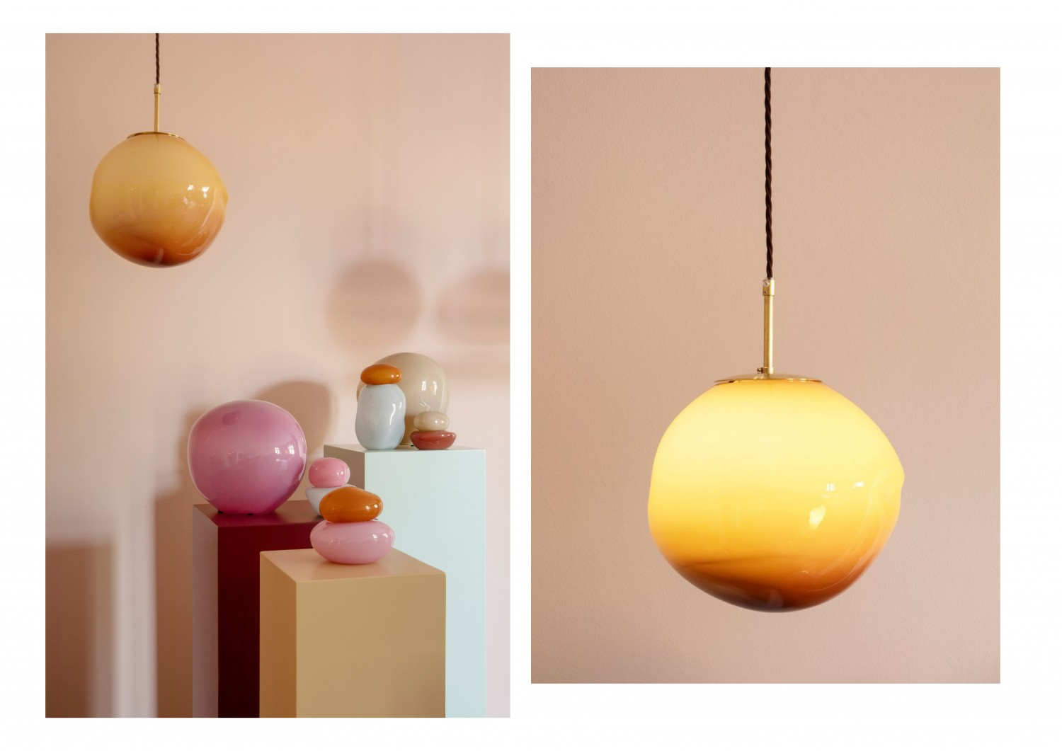 Helle Mardahl Candy Collection - handmade glass lamps and bonbonnieres