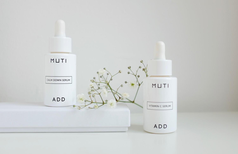 Muti Add. Muti launches two new serums - Calm Down Serum and Vitamin C serum - anti-age face care in minimal packaging