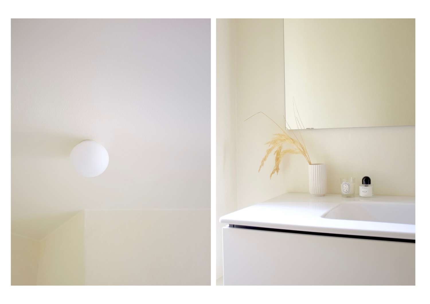 My new bathroom - a minimal space perfect for a night in doing an at home spa night.