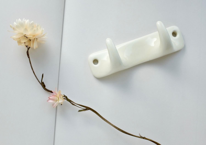 Ivory Porcelain Hook