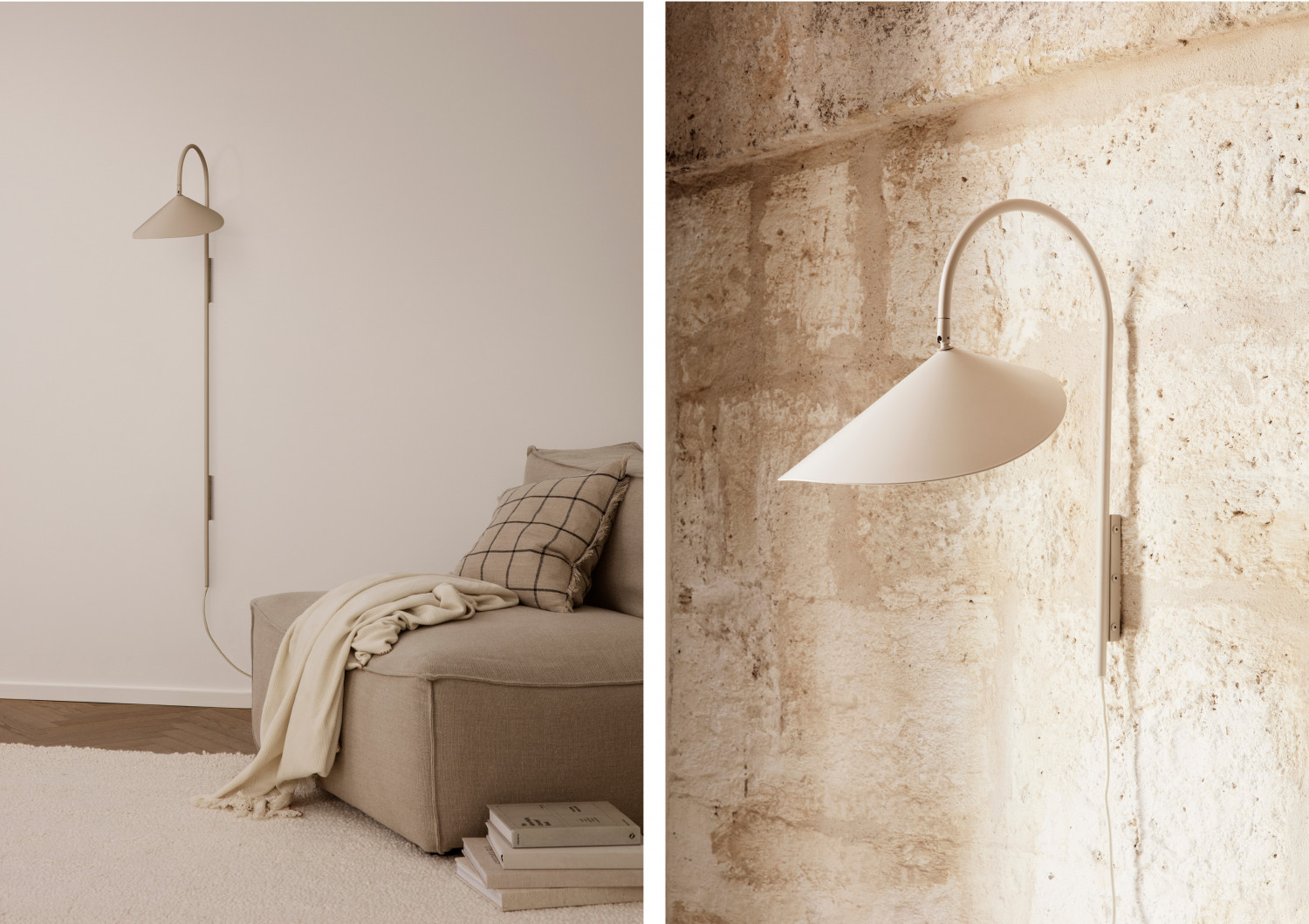 Cashmere Colored Wall Lamp