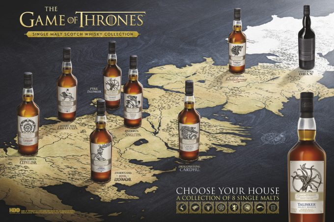 Game of Thrones Limited edition single malt whiskysamling