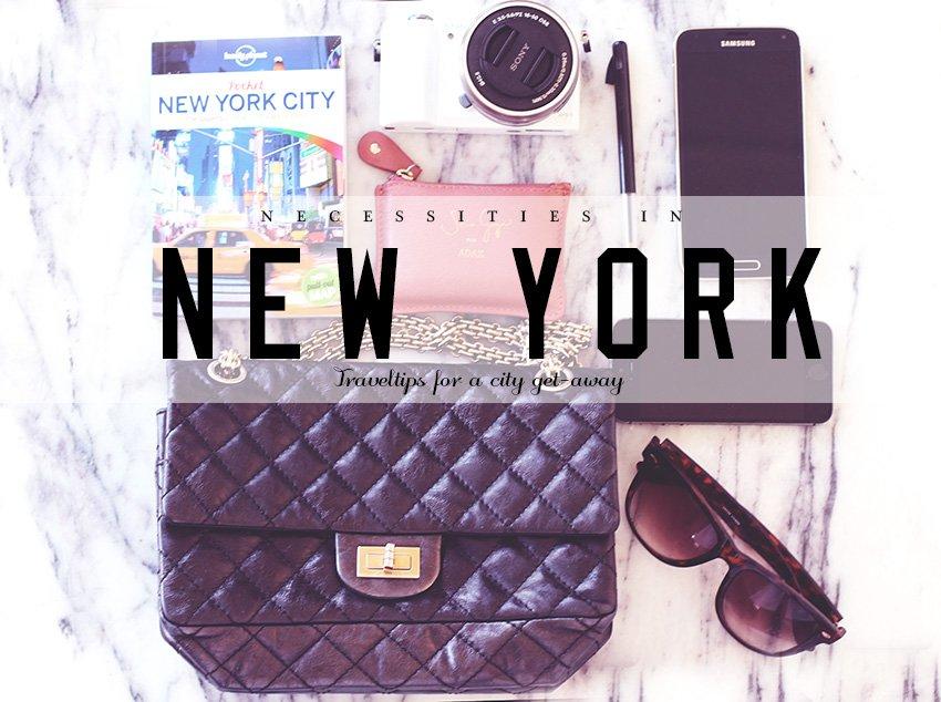 NEW YORK <i>5 ting jeg har med i tasken</i>