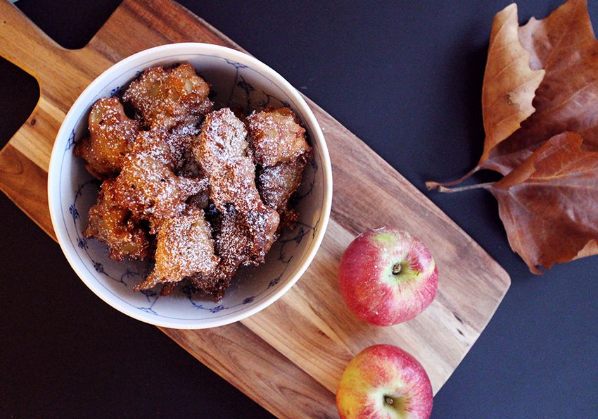 OPSKRIFT <i>- Acie's lækre små æble-munchkins</i>