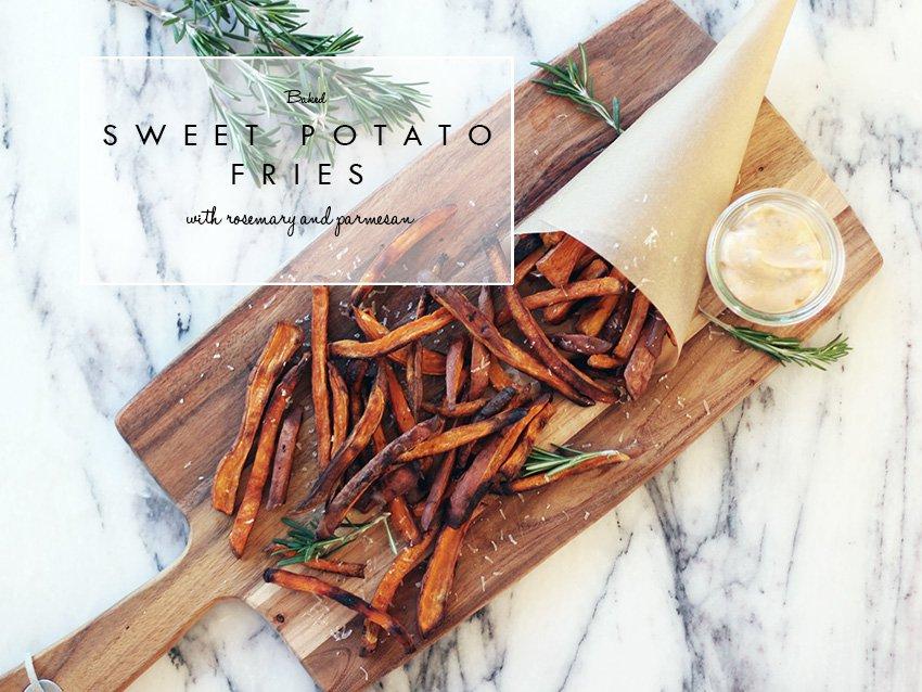 OPSKRIFT - sweet potato fries med parmesan & rosmarin..