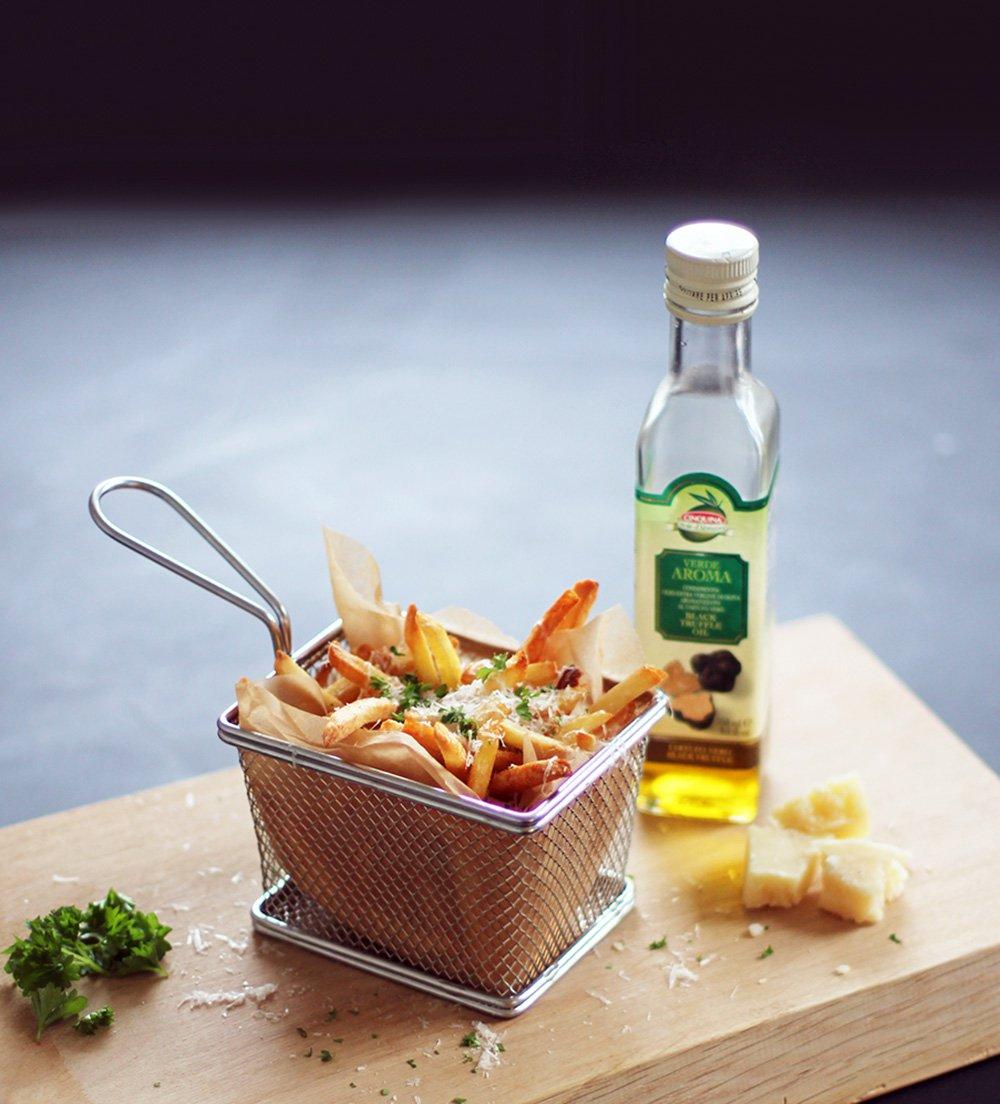 POMFRITTER med parmesan og trøffel