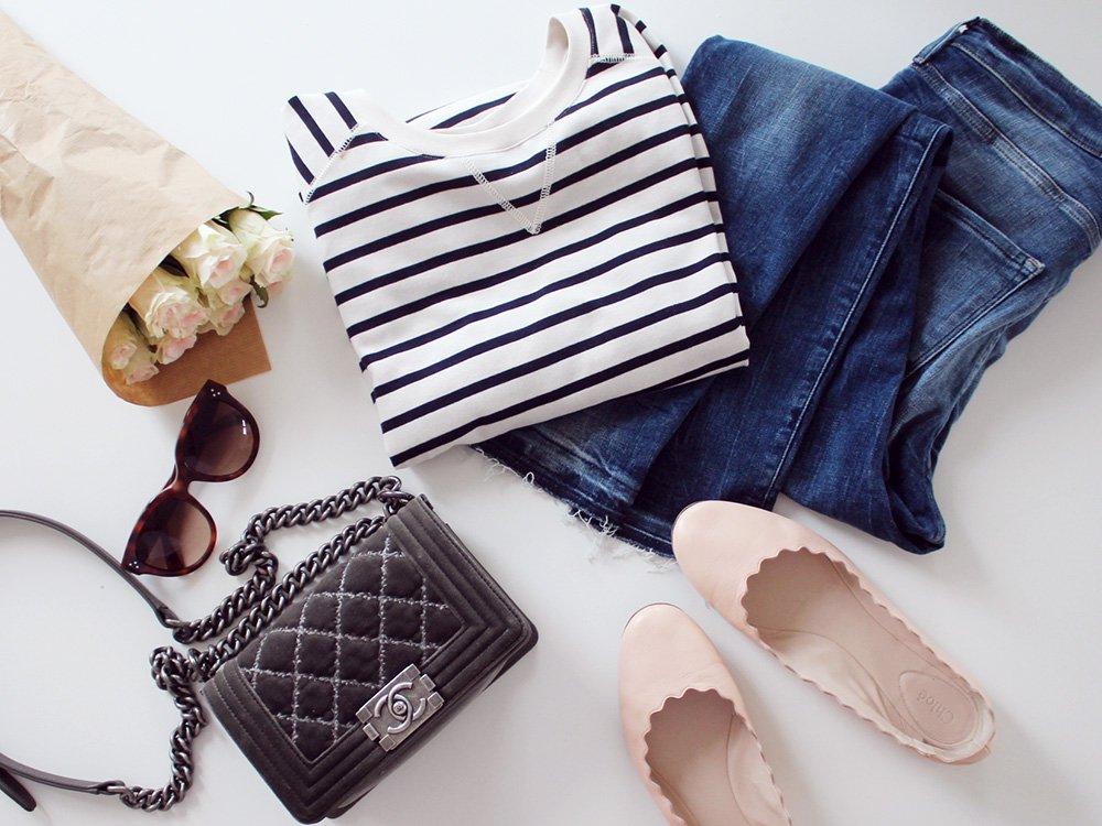 FAVORITTER - striber, jeans og Chloé flats
