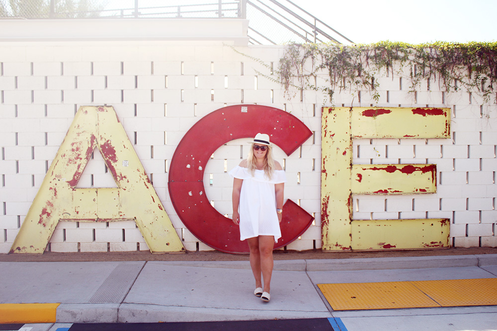 PALM SPRINGS - my name is on the wall..