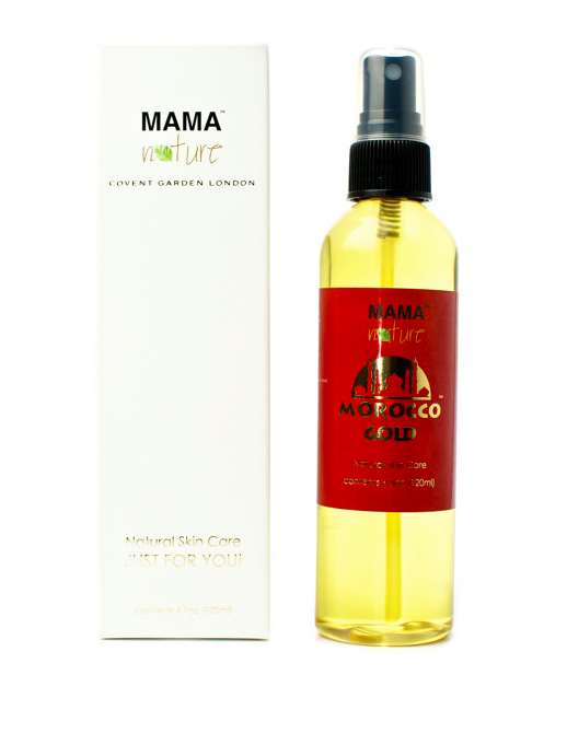 Morocco Gold (Argan Oil) by Mama Nature Of London (4 floz/120ml) - Eczema, Psoriasis, Wrinkles, Dry Skin, Scars, Anti-ageing. Find it here.