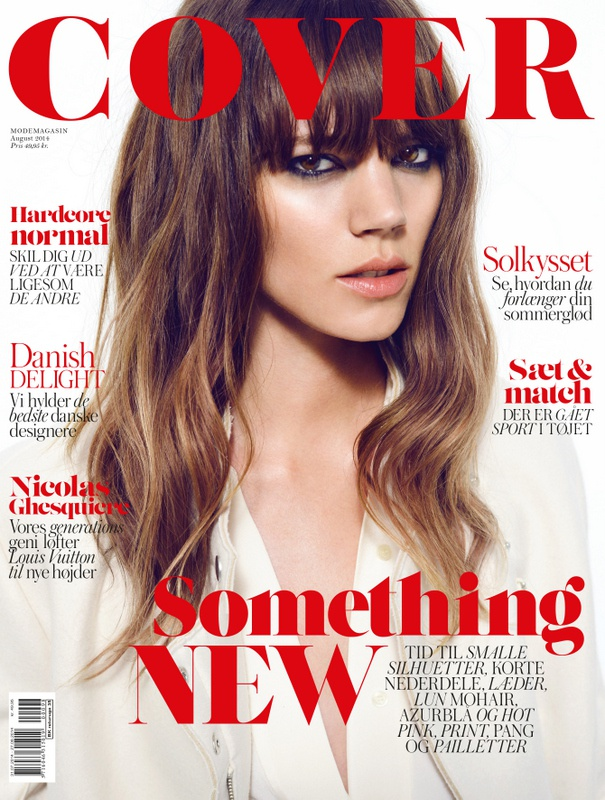 Lasse's work for Cover together with model Freja Beha.