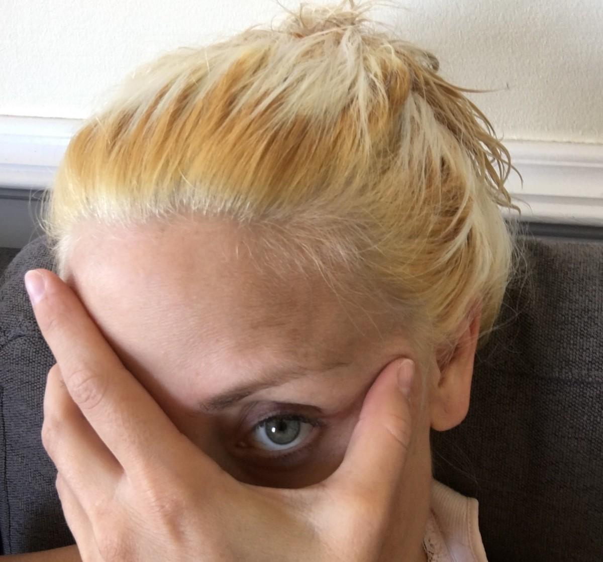 blå shampoo til gult hår