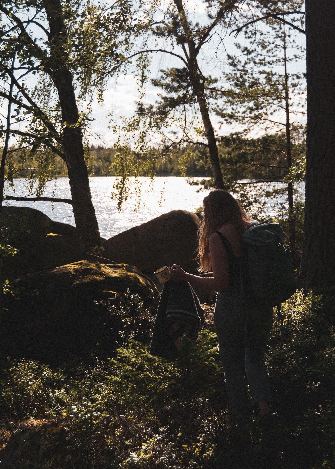 stories by holst, blogger, skov, forrest, sø, lake, picnic