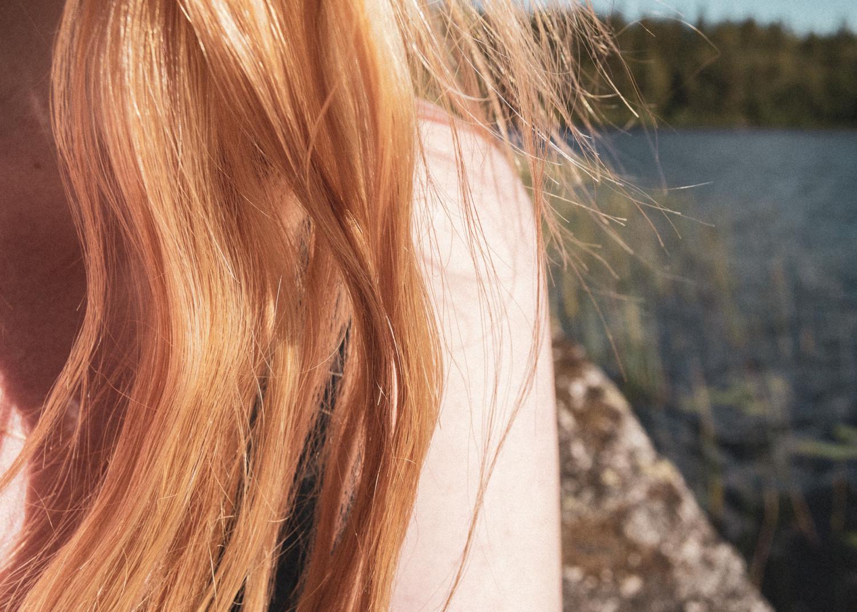 stories by holst, shoulder, hair, sun, skulder, hår, sol